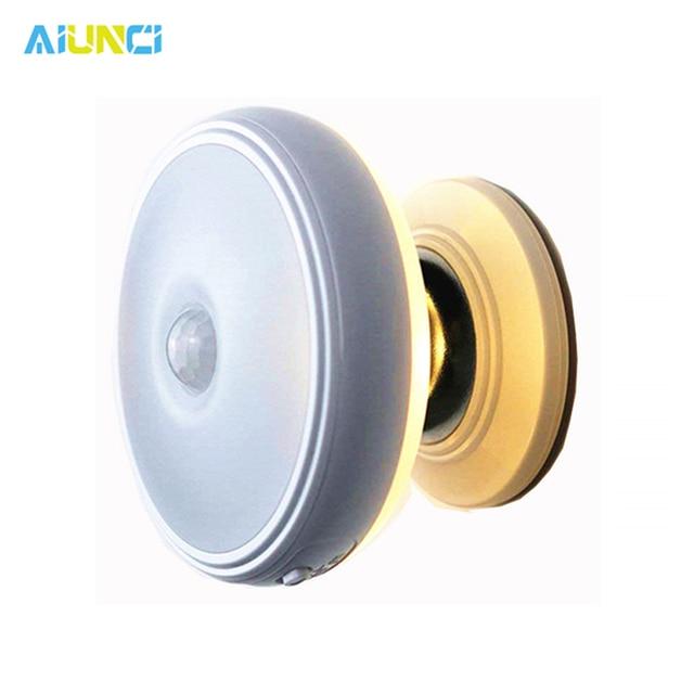 Star Rain Motion Sensor light 360 Degree Rotating Rechargeable Magnetic LED Night Light Wall lamp for Stair Kitchen toilet light