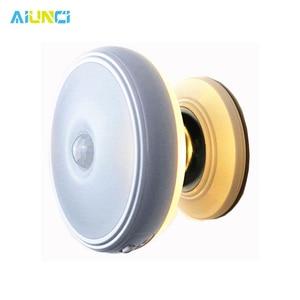 Image 1 - Ster Regen Motion Sensor Licht 360 Graden Roterende Oplaadbare Magnetische Led Night Light Wall Lamp Voor Trap Keuken Wc Licht