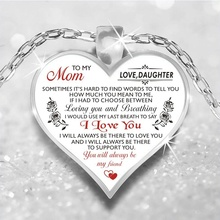 Mothers Day Jewelry Gift: Heart Necklace Silver Color Chain Necklaces For Women Love