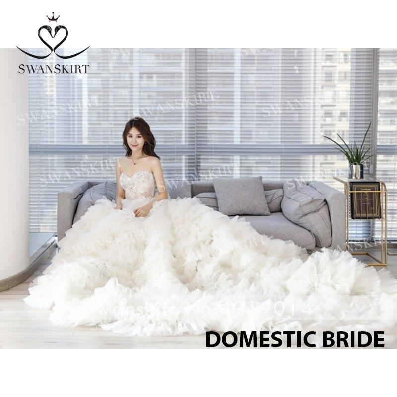 Image 5 - Милое Свадебное платье с бусинами; Роскошная юбка; Бальное платье с аппликацией; Платье принцессы с отстегивающимся рукавом; Свадебное платье; Vestido de NoivaСвадебные платья    АлиЭкспресс