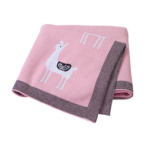 Image 3 - Baby Bed Knitted Blanket Alpaca Newborn Swaddle Wrap Soft Infant Toddler Sofa Bedding Sleeping Blankets Baby Stroller Accessory