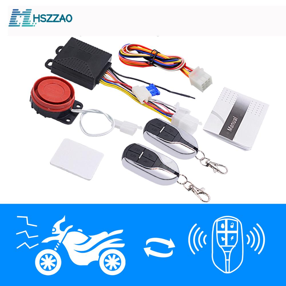12V Universal Motorcycle Alarm System Scooter Anti-theft Security Alarm System Two Pcs Control Key Fob(China)