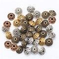 6 мм, 100 шт., сплав, рисунок, искусство, античный металл, Золотой Конус, узор, разделительные бусины для изготовления ювелирных изделий