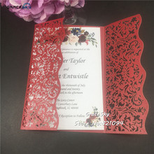 50pcs free shipping Laser cut 2020 New Lace Vine wedding invitations Cards,customized card for wedding invitations rsvp rsvp