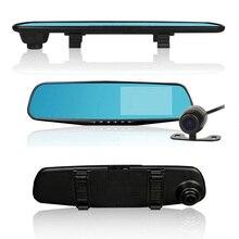 4,3 дюймов двойной объектив зеркало заднего вида FHD 1080P Авто Цифровой видео регистратор видеорегистратор умный Автомобильный видеорегистратор регистрационная видеокамера g-сенсор