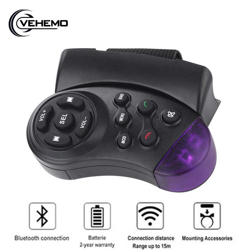 "Universal Steering Wheel Wireless Infrared Remote Control For 7"" Car CD DVD MP5 Player"