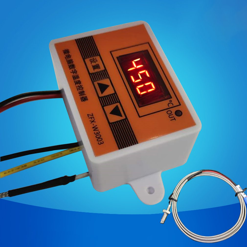 12V 24V 220VAC Digital LED Temperature Controller 3003 For Incubator Cooling Heating Switch Thermostat NTC Sensor