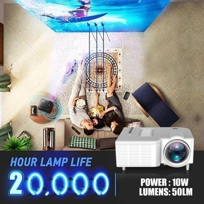 Uc28c 16.7 m portátil mini projetor 20000