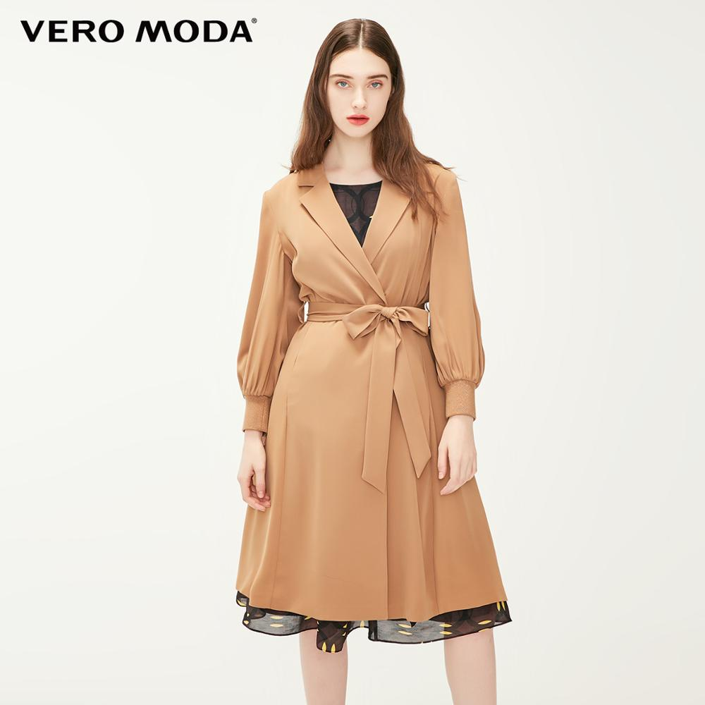 Vero Moda Women's Turn-down Collar Balloon Sleeves Trench Coat | 31917C529