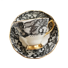 Saucer-Set Coffee-Cups-Set Ethiopian Porcelain Tea-Cup Ceramic Classic Gold China Luxury-Bone