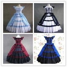 Готический шар, длинное платье в викторианском стиле, винтажный бант, летающие рукава с оборками, дворец Лолита, платье kawaii girl, Готический lolita jsk cos