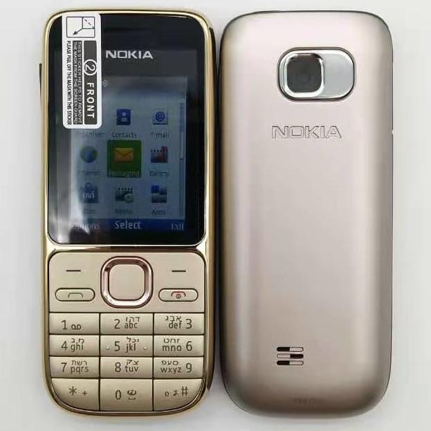 "Original Nokia C2-01 Hebrew Keyboard~Big Hot sale~Unlocked Mobile Phone 2.0"" 3.2MP Bluetooth GSM/WCDMA 3G Phone Free Shipping"