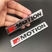 1PCS 3D Metal 4 MOTION 4motion Sticker Car Rear Trunk Body Emblem Decal for Volkswagen GOLF Polo Tiguan Jetta Car Styling