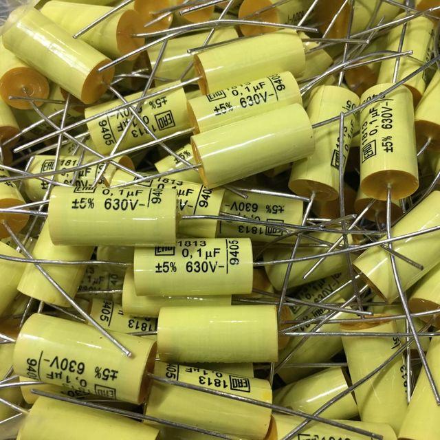 10 Pcs Nieuwe Vishay Ero MKT1813 0.1 Uf 630V 5% 10X22 Mm Axiale Film Condensator 104/ 630V Hifi Audio Mkt 1813 0.1 Uf/630 V