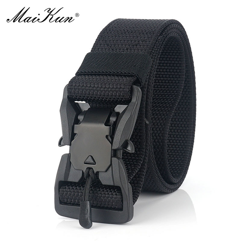 Maikun Belts For Men Military Equipment Combat Tactical Belt Metal Buckle Belt Outdoor Hunting Waistband