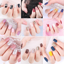 30PCS False Nail Artificial Tips for Decoration Fake Nails Extension With Designed Press On Nails Stick-On-Nails Nail Art Tools