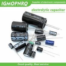 Condensador electrolítico de aluminio 20 piezas, 35V-470uF, 4V, 10V, 16V, 25V, 35V, 100UF, 220UF, 330UF, 470UF, 680UF, 47UF, 1000UF, 10UF, 22UF