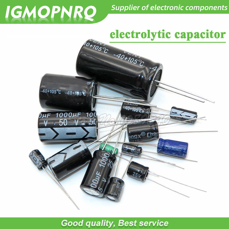 30PCS 100UF 25V Radial Electrolytic Capacitor The general size