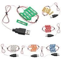 유니버설 DIY LED 조명 벽돌 키트 MOC 장난감 벽돌 장난감 USB 포트 6 색 조명 키트