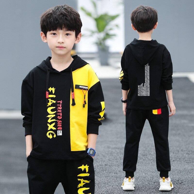 مجموعة ملابس الأولاد لعام 2020 بلوزات وسراويل رياضية للخريف والشتاء بدلة رياضية للأطفال ملابس للأطفال 7 8 9 10 11 12 13 14 15 سنة