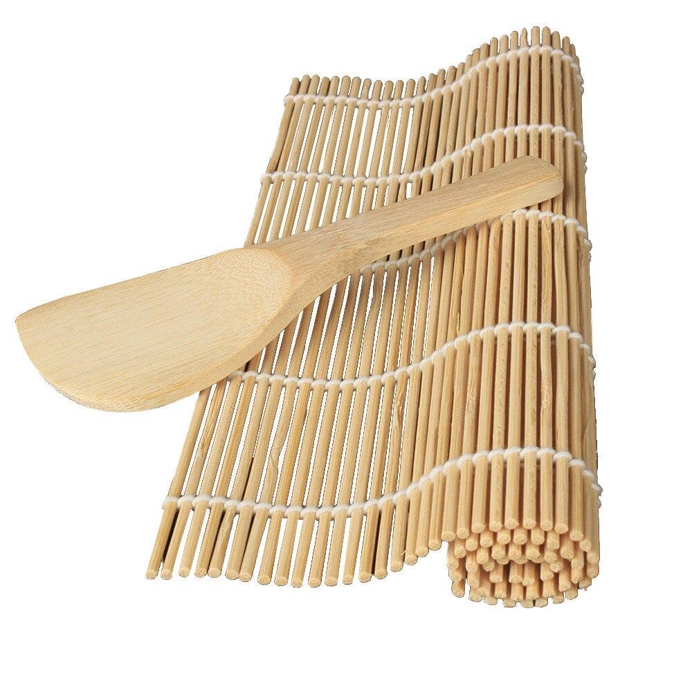 Tapis à rouler en bambou, outil de Sushi, bricolage, rouleau de riz, rouleau de poulet, cuisine japonaise, outil de préparation de Sushi, Dropshipping, 1 pièce