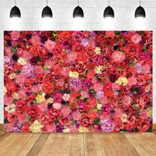 Valentines Day Spring Flower Backdrop Wedding Photocall Photography Backgrounds For Photo Studio Custom Photocall Photophone