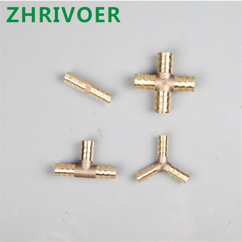 4mm 5mm 6mm 8mm 10mm 12mm 16mm 19mm Hose Copper Pagoda Water Tube Fittings Brass Barb Pipe Fitting 2 3 4 Way Connector For