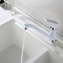 Kitchen Faucet Sink water Faucet Brass Mixer crane 360 Degree Rotating Deck Mounted Cold and Hot Kitchen Mixer Taps