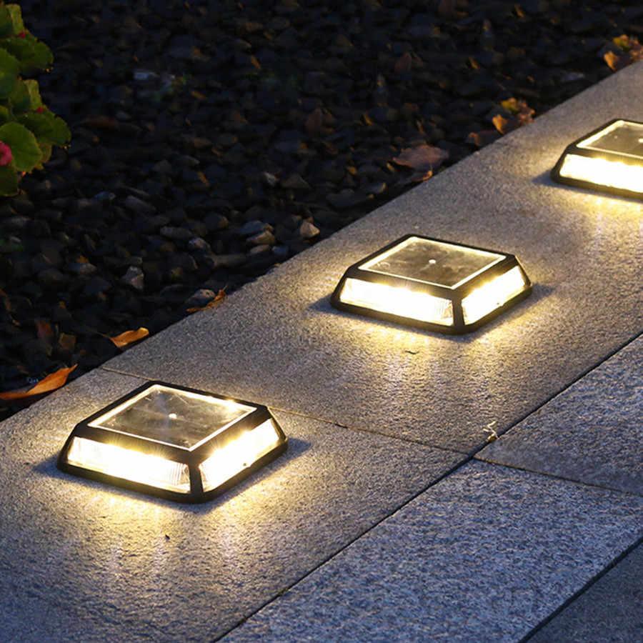 Thrisdar 12led Tanah Surya Lampu Taman Halaman Pemandangan Peta Lampu Taman Outdoor Tahan Air Tangga Deck Cahaya Lampu Surya Aliexpress