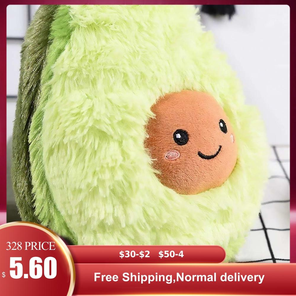 Avocado Fruits Plush Plant Confortable Creative Toys Kawaii Cartoon Cute Stuffed Doll Cushion Boys Girls Pillow For Kids Gift