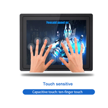 Industrial computer  linux system  Embedded built-in capacitive touch mini screen  i3i5i7 8G RAM 19inch withwifi  all in one pc