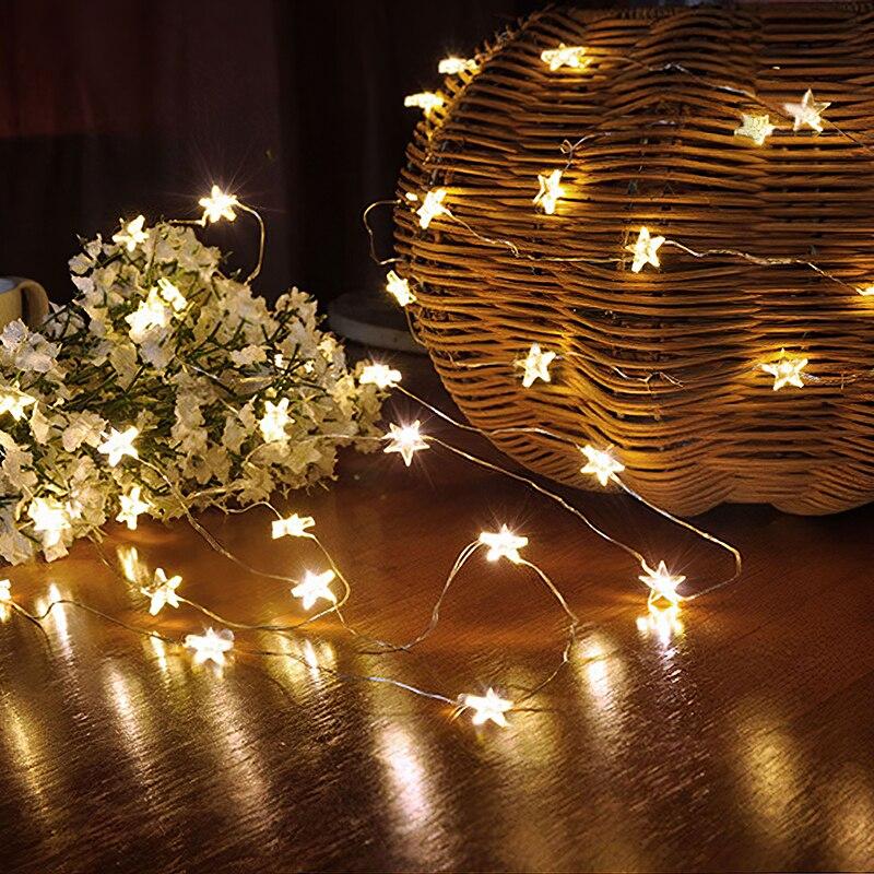 Lemonbest 30 led estrela luz da corda