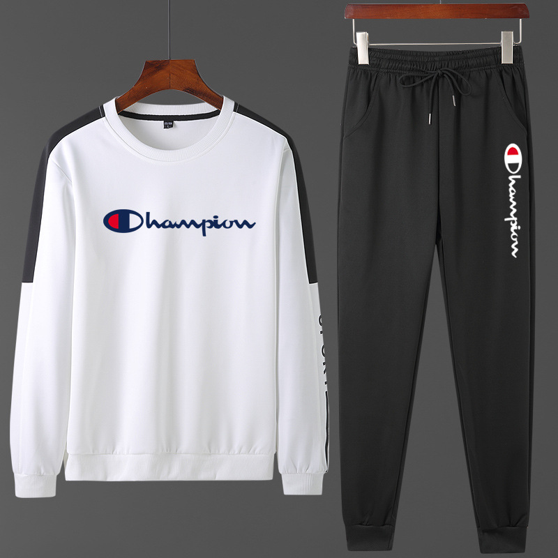 2020 New Style Korean-style Trend Leisure Sports Suit Students Couples Round Neck Sweater Men's Spring And Autumn