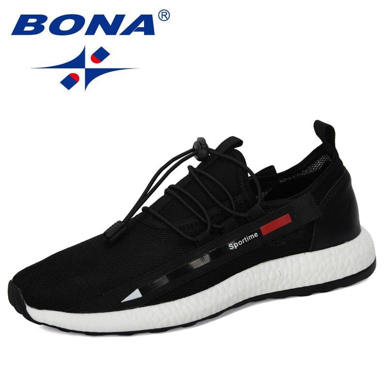 BONA 2020 New Arrival Casual Shoes Men Outdoor Light Walking Shoes Man Mesh Sneakers Male Trend Shoes Zapatillas Hombre Footwear
