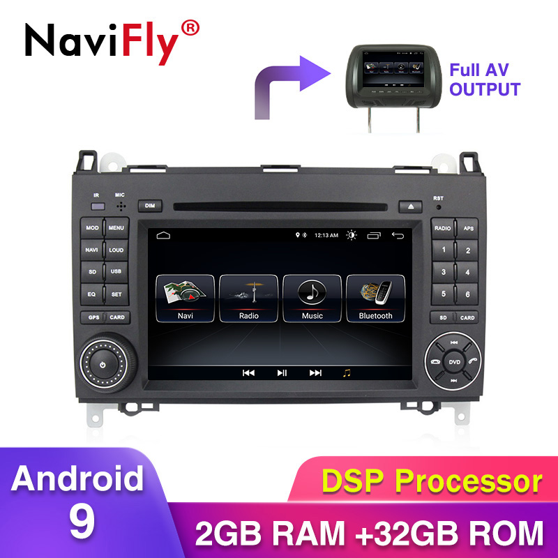 Android9 32G ROM voiture gps navi pour Mercedes Benz Sprinter B200 W209 W169 W169 b-class W245 B170 Vito W639 voiture lecteur dvd RDS
