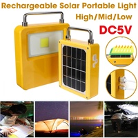 Rechargeable Portable Lanterns Light LED Camping Light Solar Solar Lamp Tent Lantern USB Charger Port Outdoor Hiking Emergency