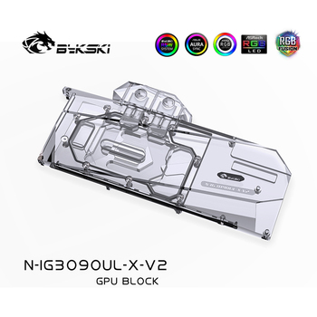 Bykski Watercooler For Colorful iGame Geforce RTX 3090/3080  Advanced OC 10G Card Cooled,Full Cover Water Block, N-IG3090UL-X-V2 bykski watercooler for rtx 3090 rtx 3080 maxsun palit founders edition full cover water block aic n rtx3090 x