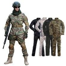 Uniforme militar camuflagem roupas de combate tático terno do exército dos homens forças especiais airsoft militar soldado casaco + calça conjunto maxi xs-