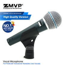 High Quality Professional Performance BETA58A Wired Microphone BETA Super-Cardioid 58A Dynamic Mic For Live Vocals Karaoke Stage