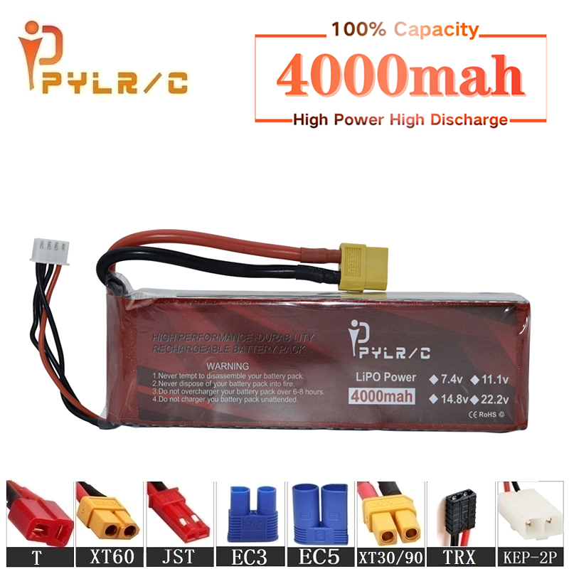 High Rate 7.4v 4000mAh Lipo Battery For RC Helicopter Parts 2s Lithium battery 7.4v 35C RC Cars Airplanes Drones Battery T/XT60(China)