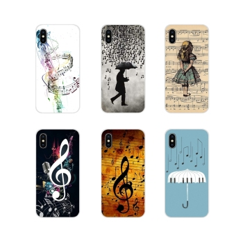 For Xiaomi Redmi Note 3 4 5 6 7 8 Pro Mi Max Mix 2 3 2S Pocophone F1 Soft Silicone TPU Case Musical Notes Violin Classical Music image