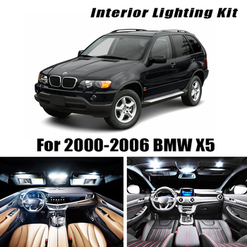 цена на 22pc canbus Error Free LED Reading Bulb Interior Dome Map Light Kit for  2000-2006 BMW X5 E53 3.0i 4.4i 4.6is 4.8is 6000K White