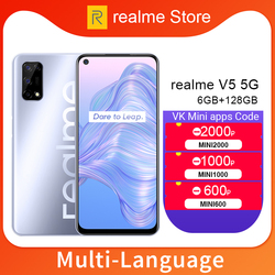 realme V5 6GB 128GB Dimensity 720 Smartphone 5G 6.5inch 90Hz Full view Display 48MP Quad Cameras 5000mAh 30W Fast Charger