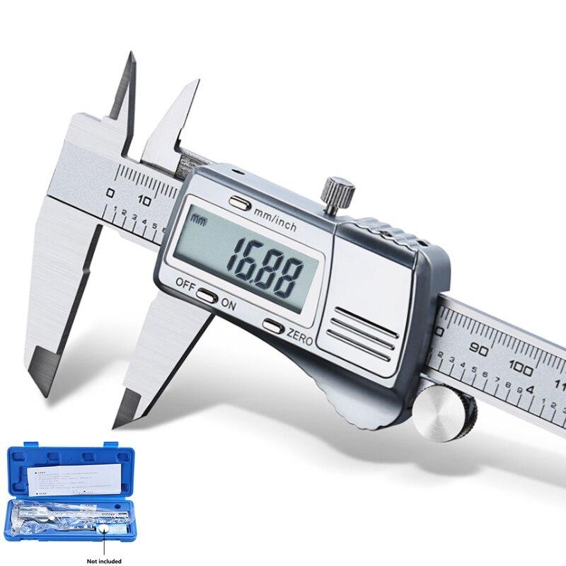 Caliper digital de aço inoxidável 150mm eletrônico industrial todo o metal vernier caliper de medição alta precisão calibre digital