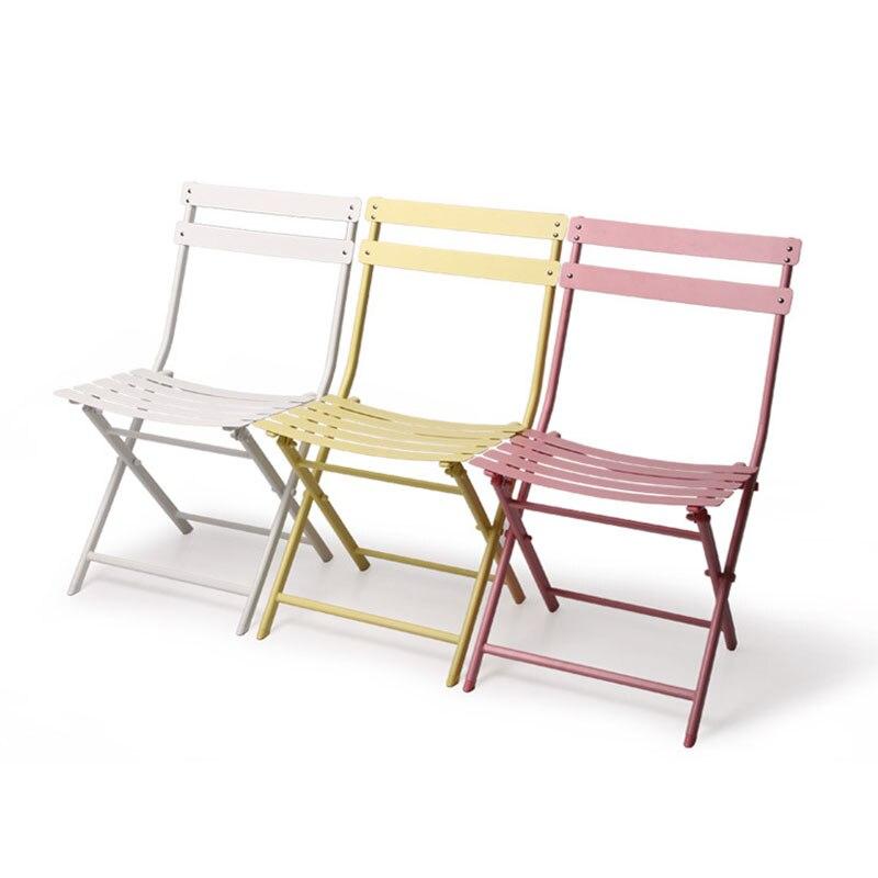 Moderne chinois Seiko fer Restaurant à manger chaise loisirs de plein air café après-midi thé négociation Simple créatif chaise en métal