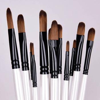 12 sztuk zestaw pędzie do farb olejnych kolor patchworku wielofunkcyjny przenośny do rysowania artystycznego dostarcza drewniany uchwyt pędzel do malarstwa artystycznego tanie i dobre opinie CN (pochodzenie) NYLON WOOD