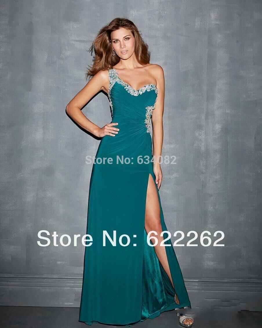 Party Formal Dresses Robe De Soiree Sexy Backless One Shoulder Vestido De Festa 2016 Free Shipping New Custom Evening Dress