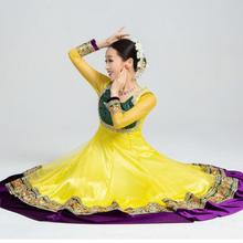 India Sarees Traditional Costume Ethnic Style Kurtas Woman Performance Dance Suits Dress+Scarf