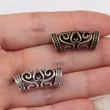 Dreadlock bead Dread Accessories Dreadlock Jewelry cuff charm dreads ethnic nature leaf bead silver
