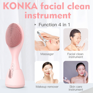 Image 4 - KONKA Electric face cleansing brush Silicone USB facial cleansing brush Skin care cleanine machine IPX6 waterproof